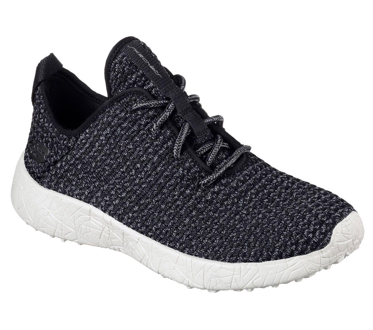 12789 Bkw Black Skechers Shoe Burst Memory Foam Women Soft Woven Sporty Knit