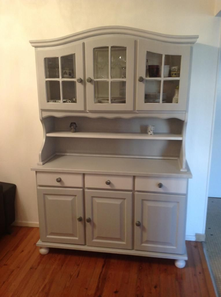 Vaisselier en pin repeint relooking meubles mobilier de salon meuble et meuble en pin - Meuble a renover ...