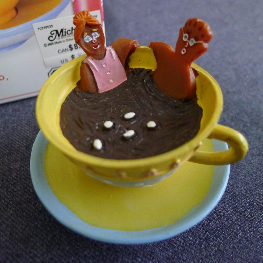 Lemax Sugar N Spice Hot Chocolate Tub Cup Saucer Holiday