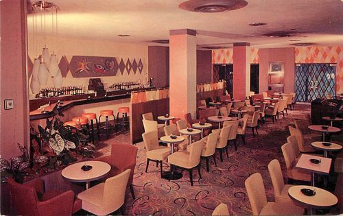 mid century cocktail longe bing images - Midcentury Restaurant Interior