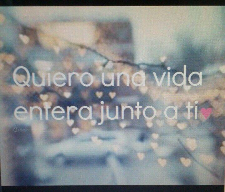Quiero una vida entera junto a tí