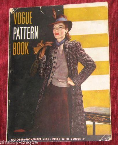 Vogue Pattern Book, October-November 1939