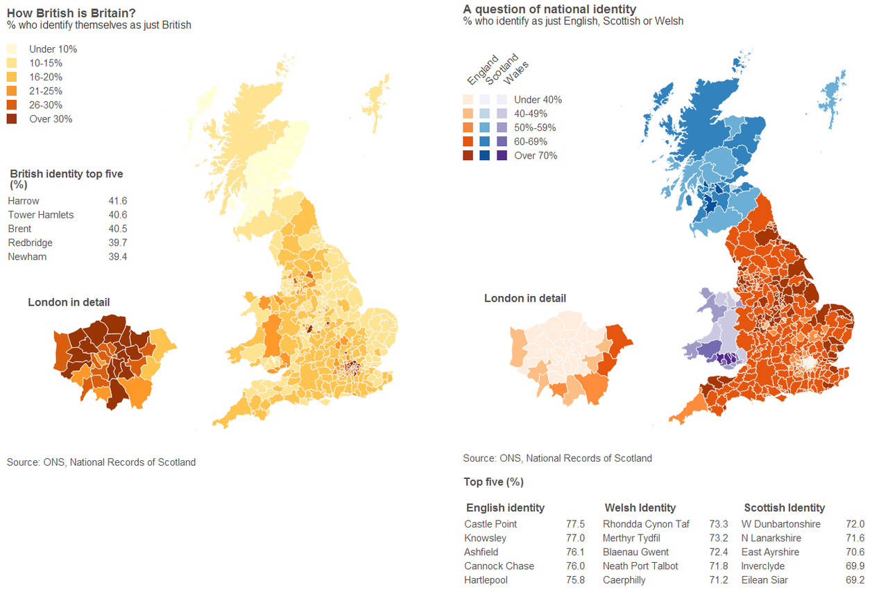 National Identity In Great Britain Map Language Map Historical