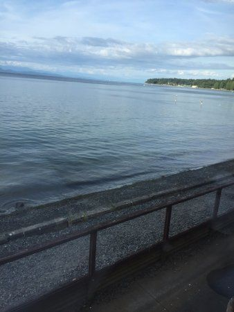 View of the water.  Great views from every table! The Shady Rest Waterfront , Qualicum Beach, BC