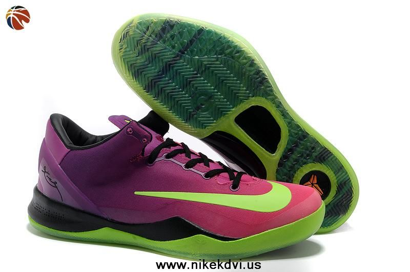 53ba582e7add Buy Kobe 8 System Mambacurial FB 615315 500 Red Plum Electric Green Pink  Flash