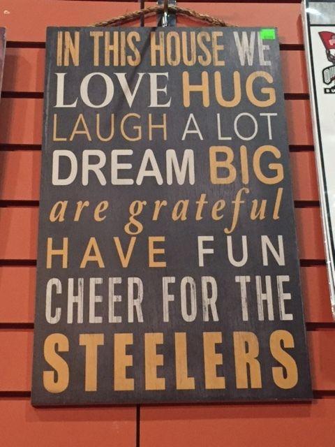 Pittsburgh Steelers Home Decor Wood Sign Steeler Nation Steelers Go Steelers