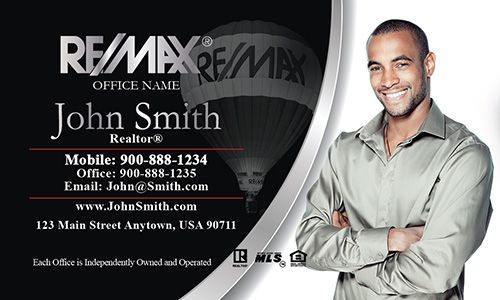 Remax realtor with head shot business cards design 101041 real elegant black and white remax real estate business card template colourmoves