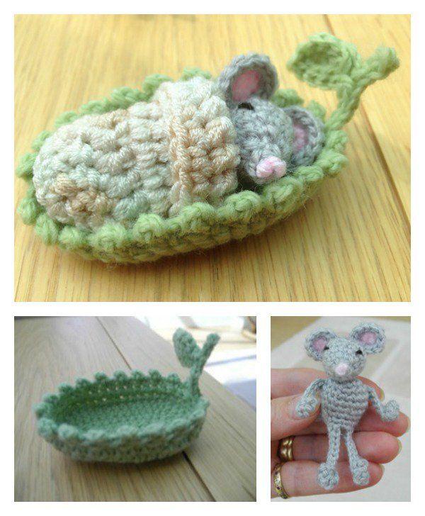 Free Mini Mouse Crochet Patterns   Mini ratón, Patrón de ganchillo y ...