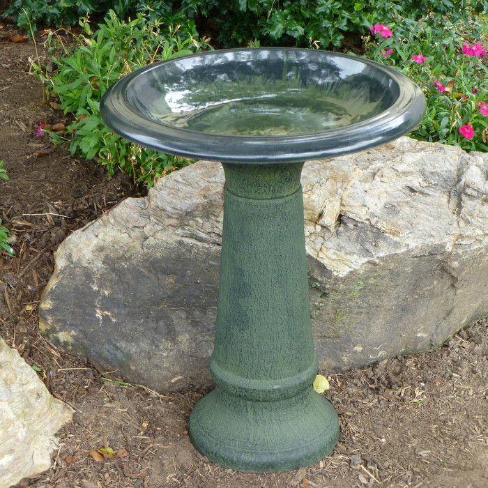 Tierra Garden Fiber Clay Bird Bath U0026 Reviews | Wayfair