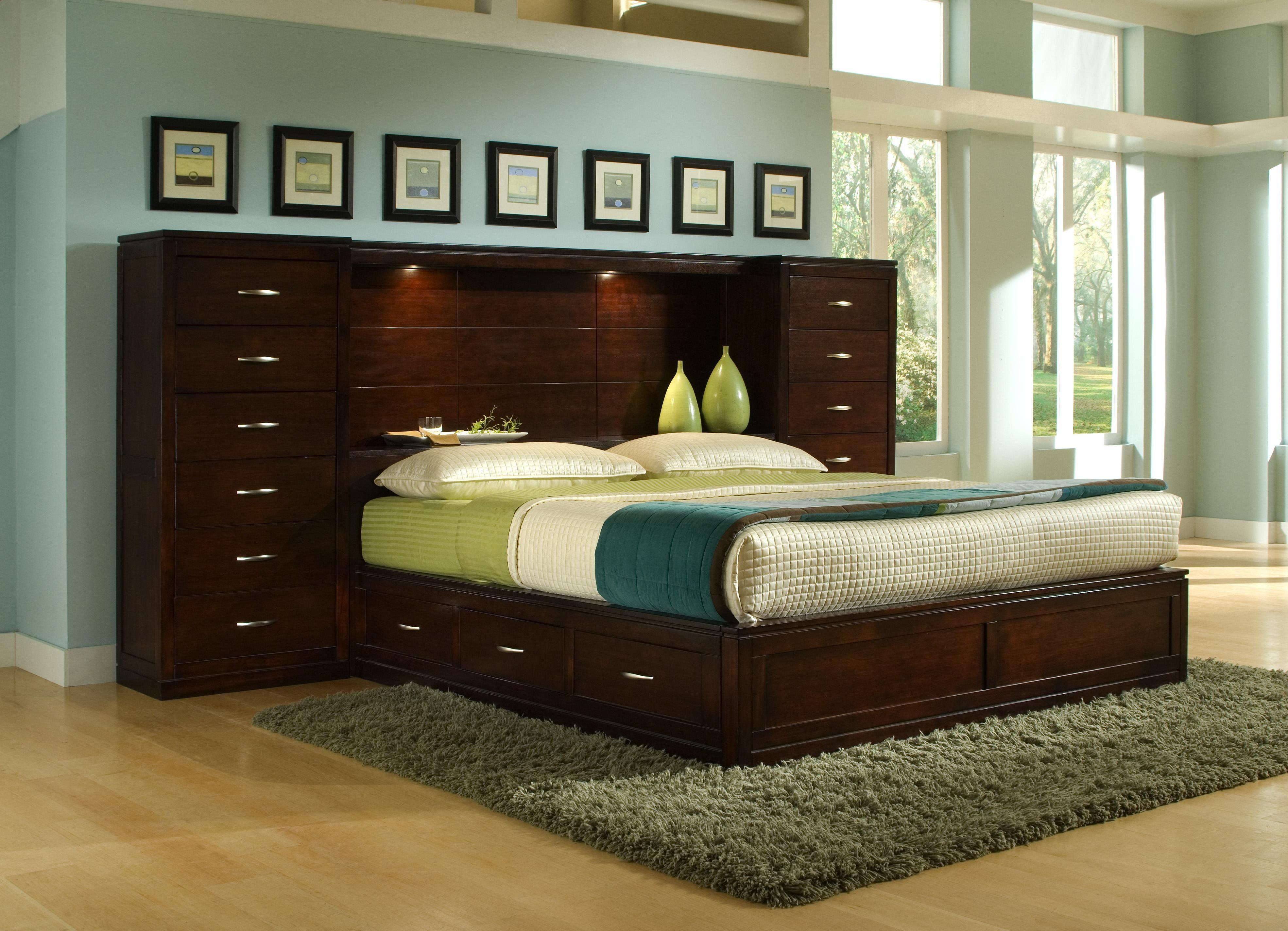 Perimeter Place Bookcase King Bed Pier Group By Bk Home