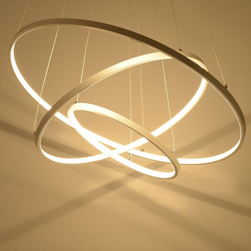 moderne hanglampen voor woonkamer eetkamer 3 2 1 cirkel ringen