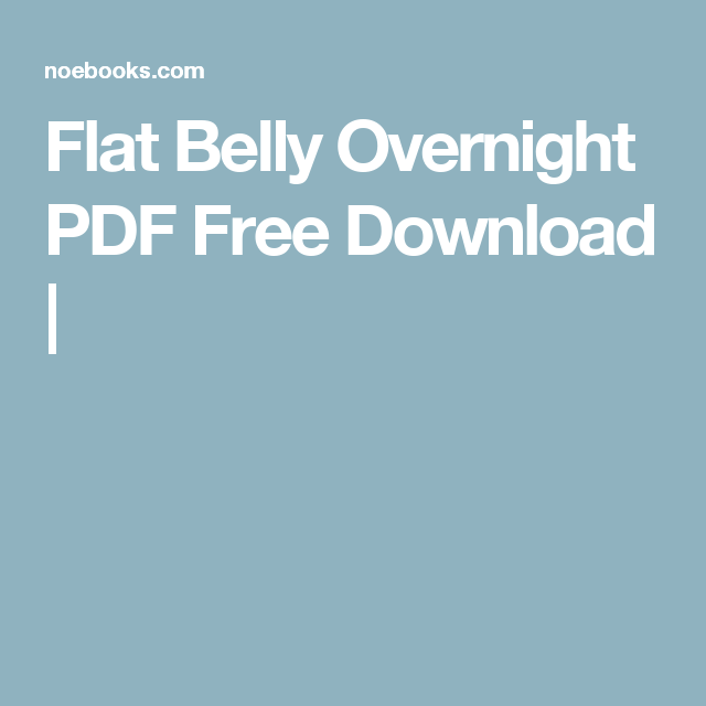 flat belly diet pdf free download