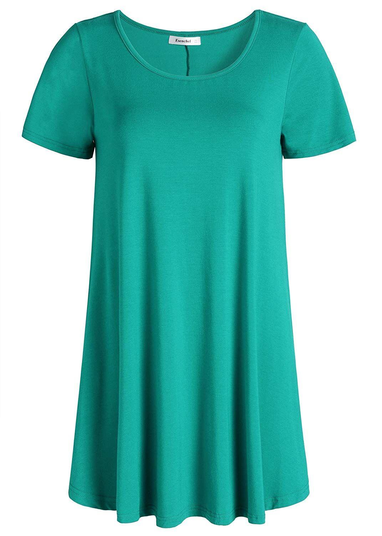 679013cdbf4 Esenchel Women's Tunic Top Casual T Shirt for Leggings at Amazon Women's  Clothing store: