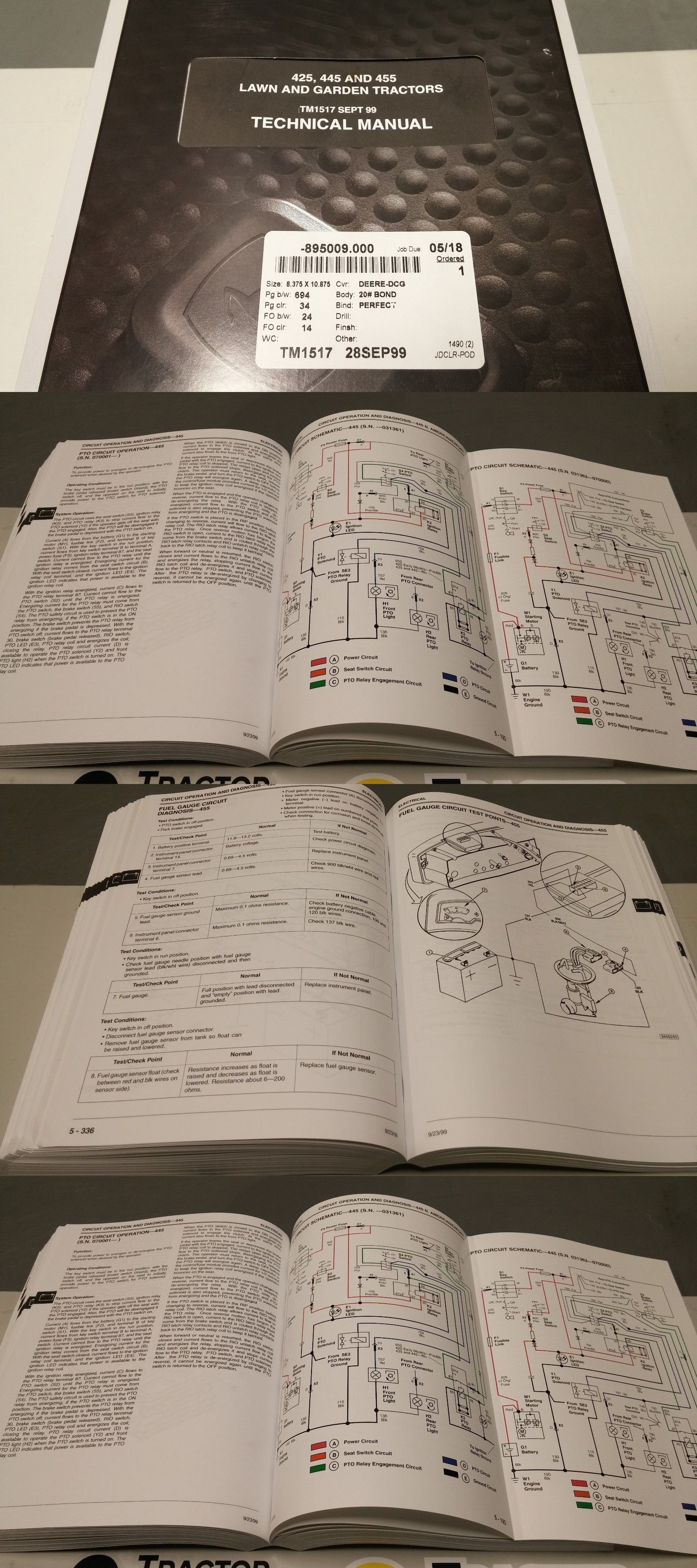 John Deere 425 Carburetor Problems Tractor Wiring Diagrams Manuals And Guides 42229 New 445 455 Technical Rh Pinterest Com