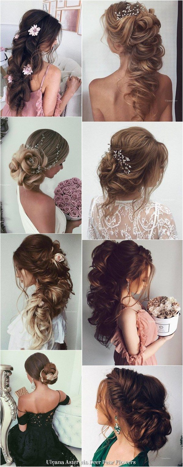Best hair style for bride ulyana aster long wedding hairstyles