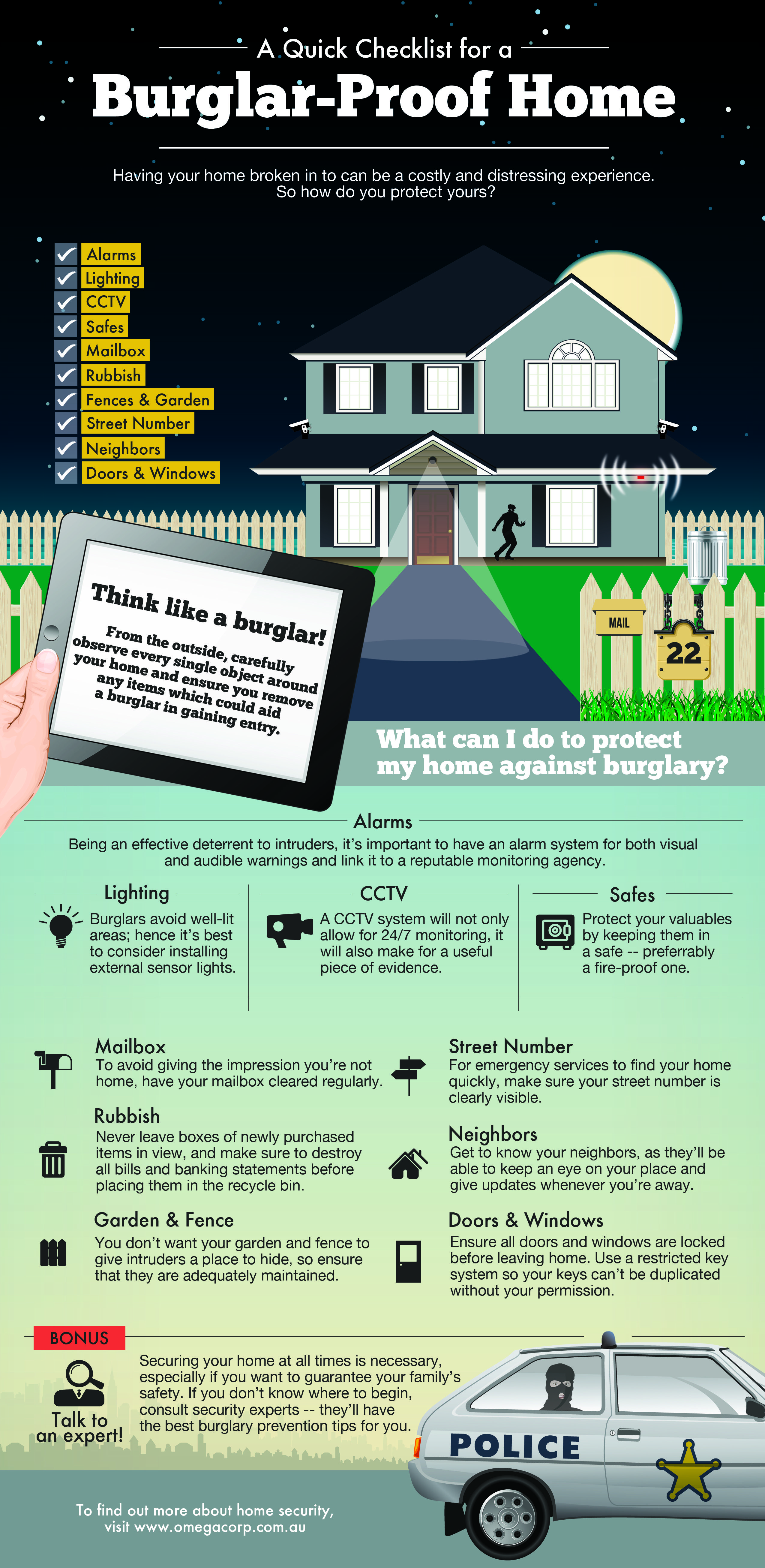 A Quick Checklist For A Burglar Proof Home [Infographic