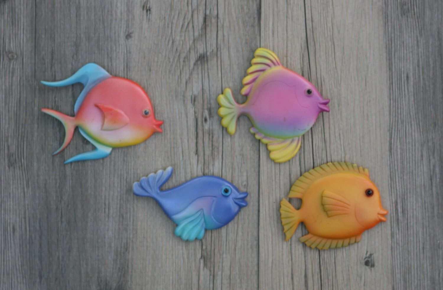 A personal favorite from my Etsy shop https://www.etsy.com/listing/290264067/set-of-four-small-vintage-tropical-fish