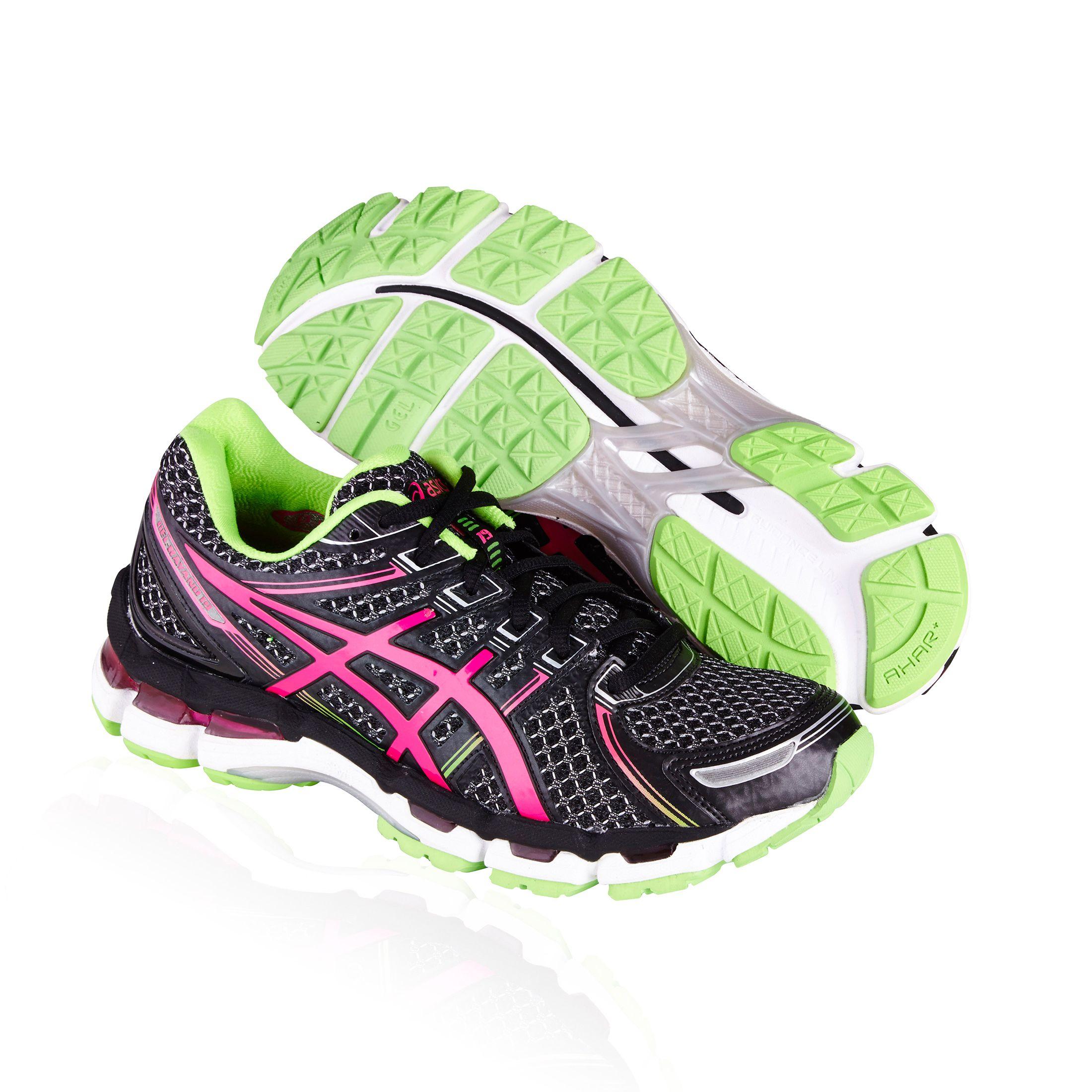 Asics Gel Kayano 19 Running Shoe Black Electric Pink Apple With