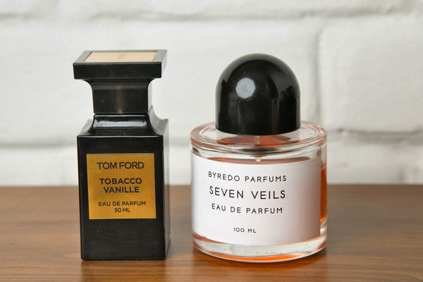 889a74800e16 Tom Ford Tobacco Vanille and Byredo Seven Veils perfumes. (Photo  Erin  Baiano for The New York Times)