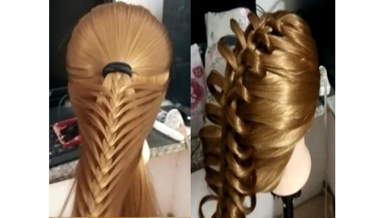 5 Peinados Faciles Y Rapidos Y Bonitos Con Trenzas Como Hacer Peinados Hair Styles Hair Videos Beautiful Braids