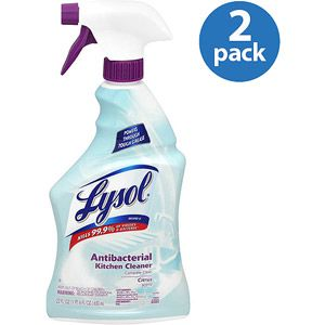 Lysol Antibacterial Kitchen Cleaner Citrus Scent 22 Oz Pack Of