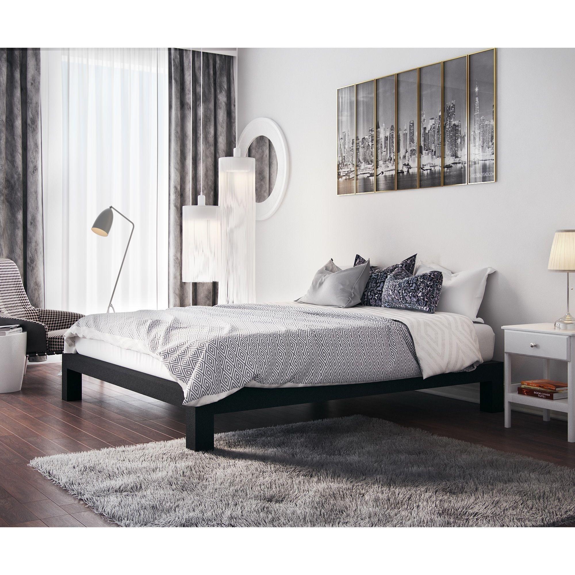 Vesta Black Metal Slatted Platform Bed (Queen) | My New Room | Pinterest