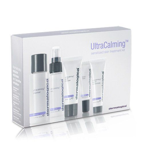 Dermalogica UltraCalming Treatment Kit 5 piece by Dermalogica. $30.21. Ideal for Trial. The Ultra Calming Treatment Kit is ideal for trial, travel or gift. Designed with sensitive skin in mind, The Ultra Calming Treatment Kit features five formulas to cleanse, protect and soothe for a healthy, comfortable complexion.  # The Ultra Calming Treatment Kit includes: UltraCalming Cleanser (1.7 oz.) # UltraCalming Mist (1.7 oz.) # UltraCalming Serum Concentrate (0.3 oz.) # Barrier...