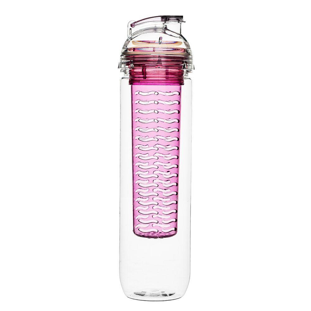 Fresh Flaske Med Beholder Til Frukt, Rosa - Sagaform Design Group - Sagaform - RoyalDesign.no