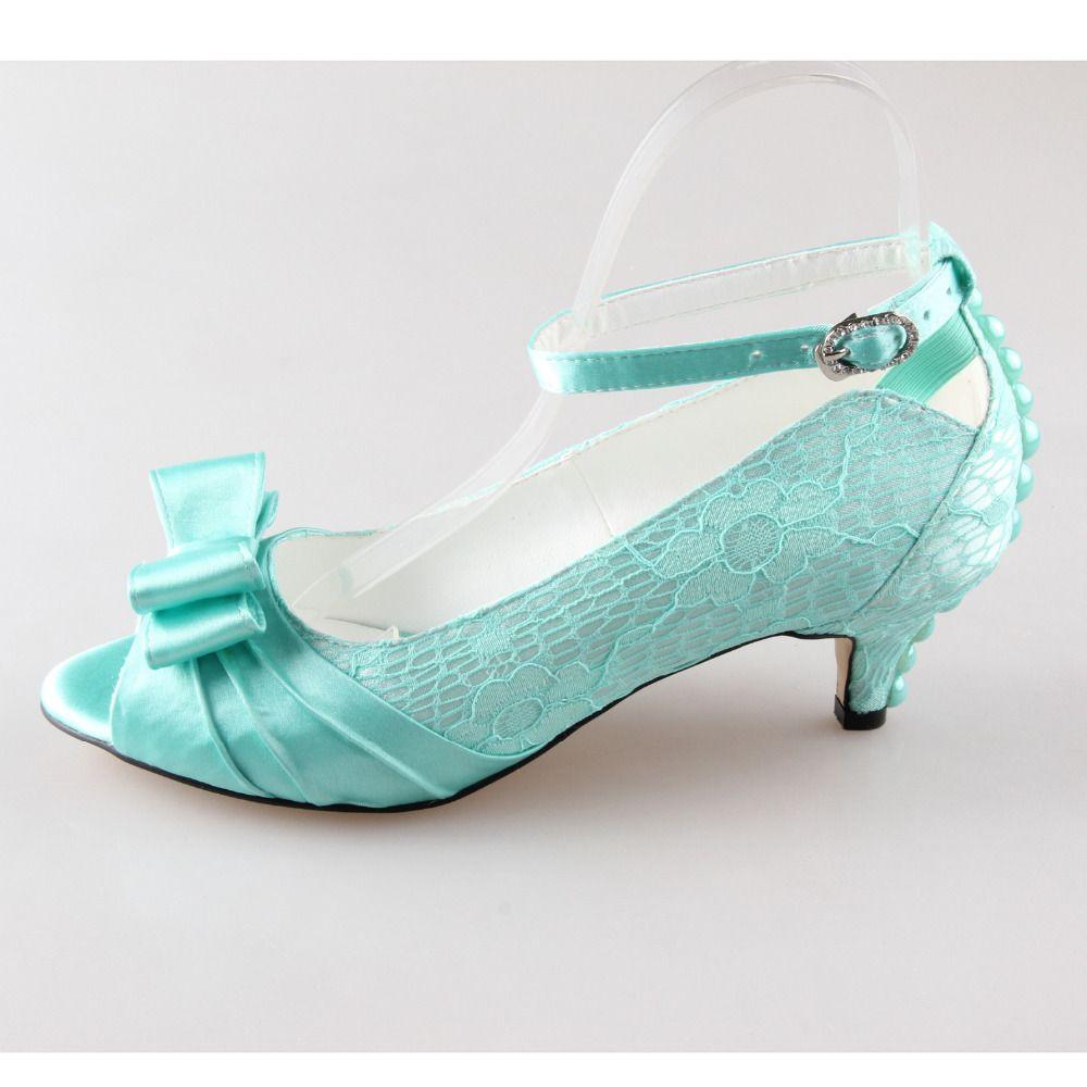 0097416de6c Handmade mint green lace pearl with bowknot open peep toe bow bridal jpg  1000x1000 Mint green