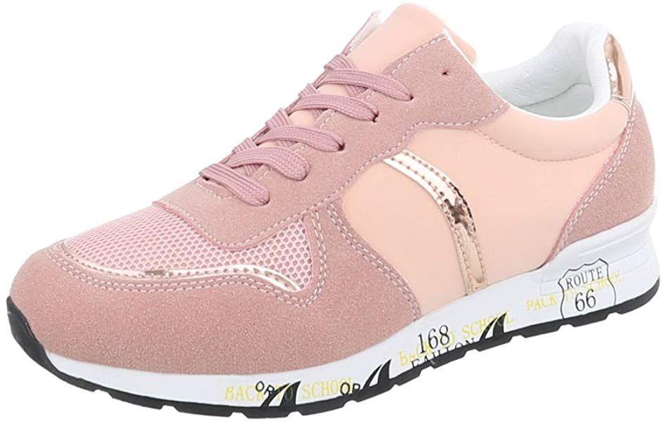 Ital Design Sneakers Low Damen Schuhe Sneakers Low Sneakers Schnursenkel Freizeitschuhe Altrosa Gr 39 Bl110 Zapatos Casuales Moda Para Ninas Calzas