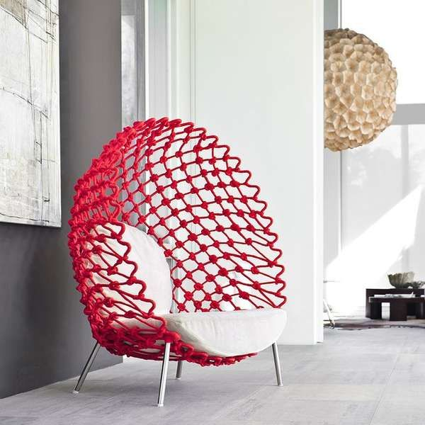 These Dragnet Lounge Chairs by Kenneth Cobonpue are Eggstraordinary trendhunter.com