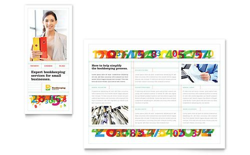 Bookkeeping Services Brochure Template by @StockLayouts Office - free leaflet template word