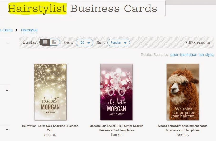 Girly Business Cards Zazzle Tutorial How To Narrow Your Search Results Using The Search Bar Girly Business Cards Hairstylist Business Cards Tutorial