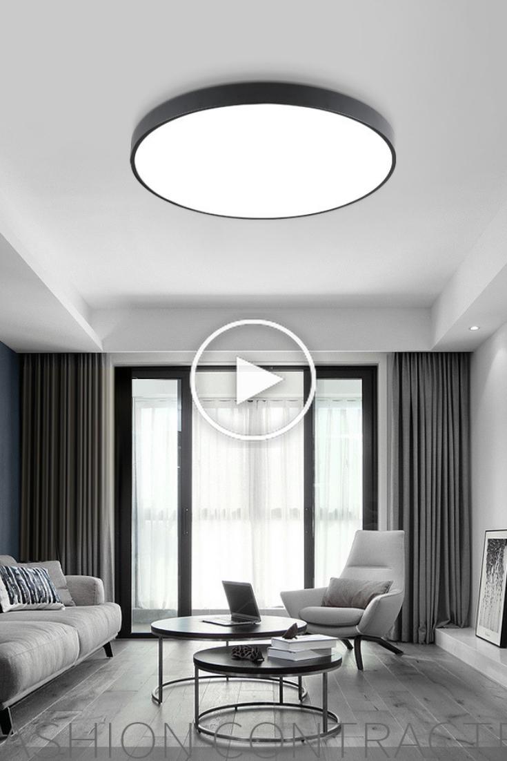 Nordic LED-Deckenleuchten Ultra Thin Moderne Deckenleuchten in
