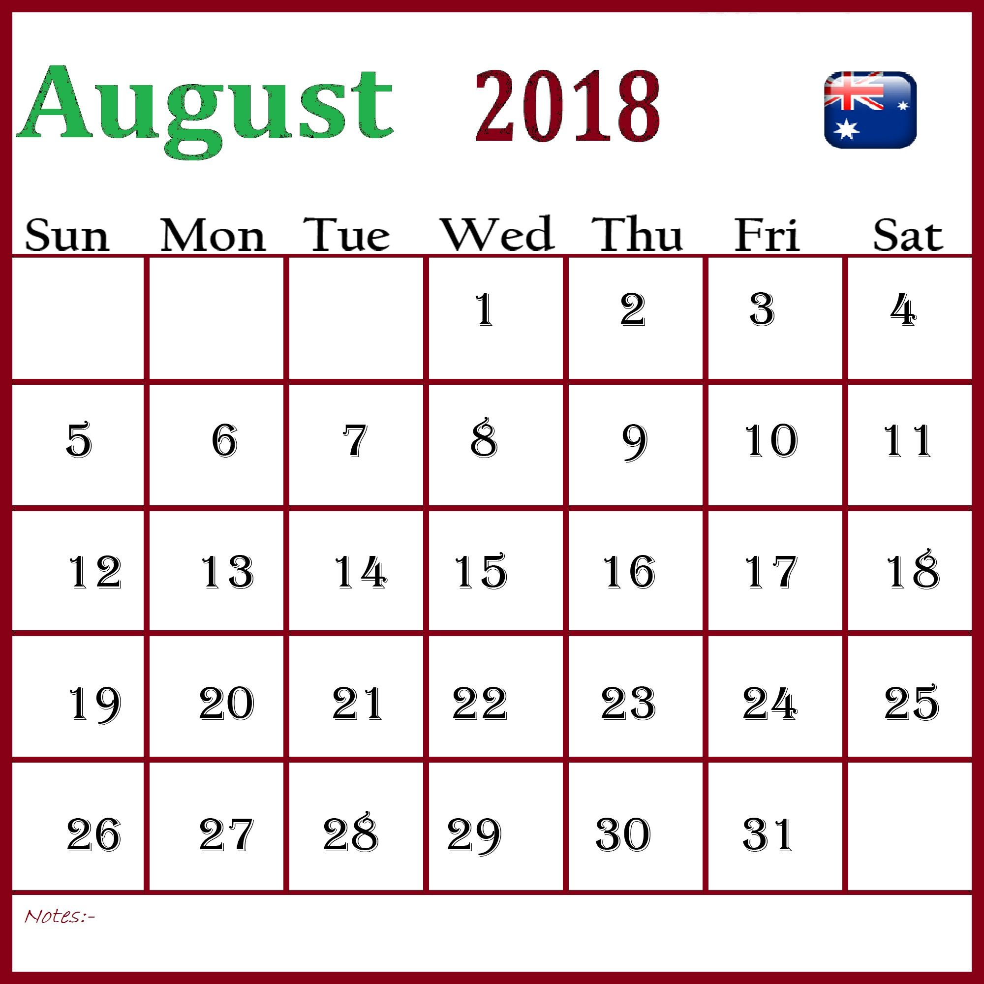 august 2018 calendar australia printable 2018 calendar excel printable blank calendar august calendar