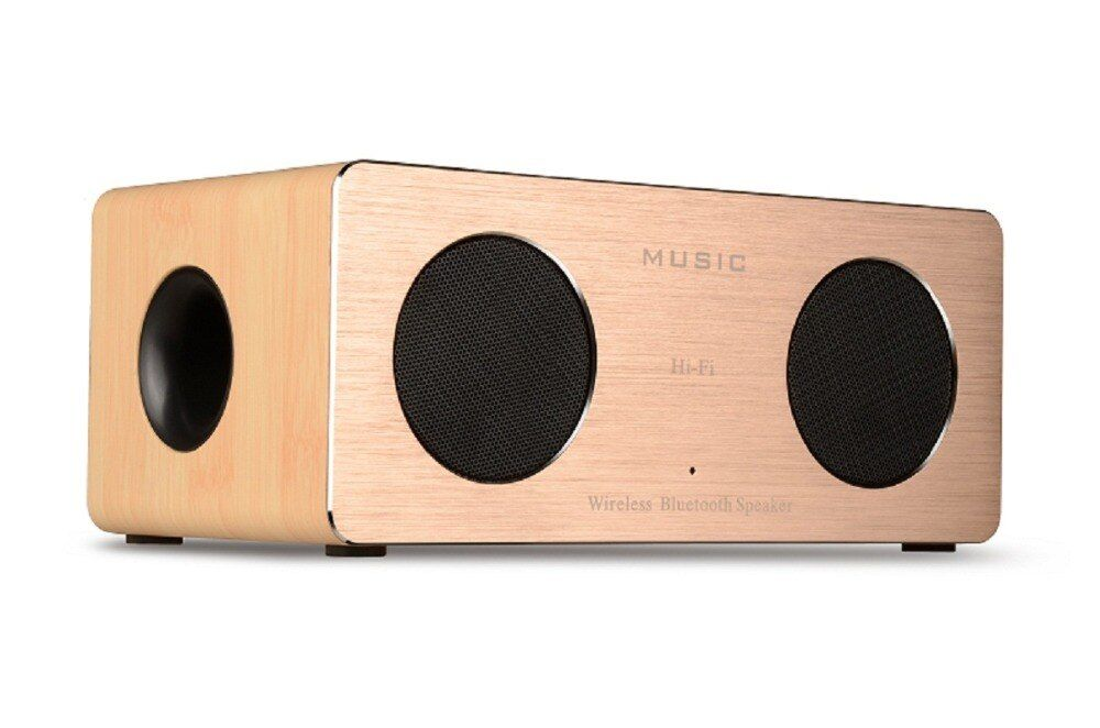 Retro Wooden Bluetooth Speaker Wireless Speaker 3d Dual