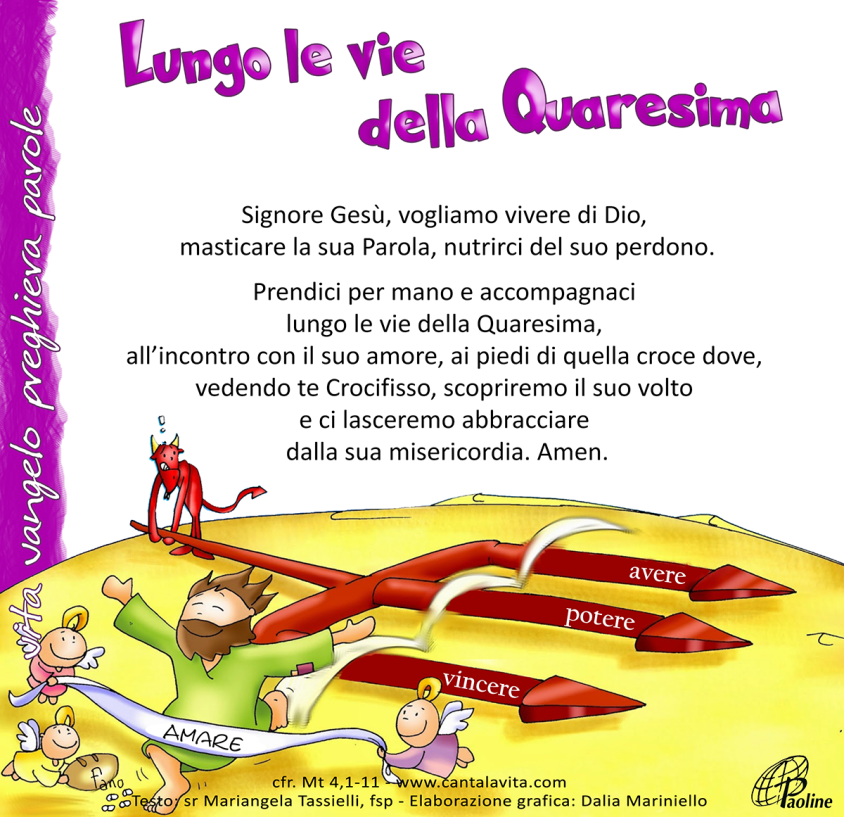 Risultato immagini per 1 Domenica di quaresima A canta lavita.com