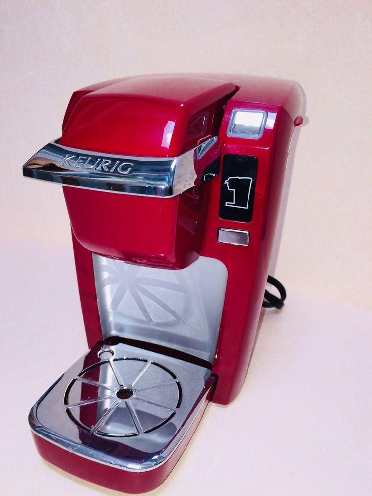 Keurig K Mini K15 Single Serve K Cup Pod Coffee Maker Red Ofb Ebay