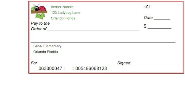 Blank Checks Template  Printable Play Checks For Kids  Students