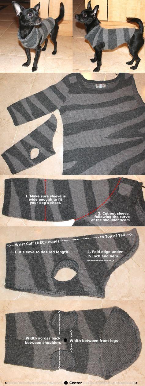 How To Make A Chic Dog Sweater - DIY   Kleine Nähprojekte ...