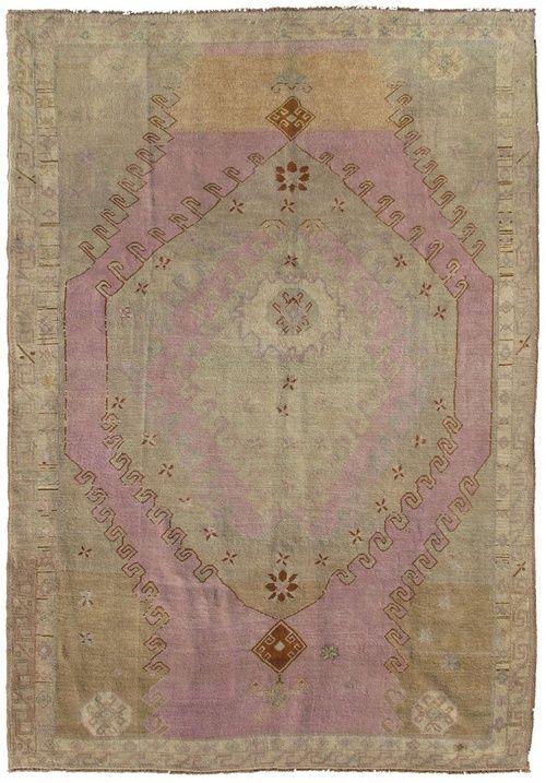 Via Turkish Oushak S P A C E S Rugs On Carpet Vintage Rugs Oushak