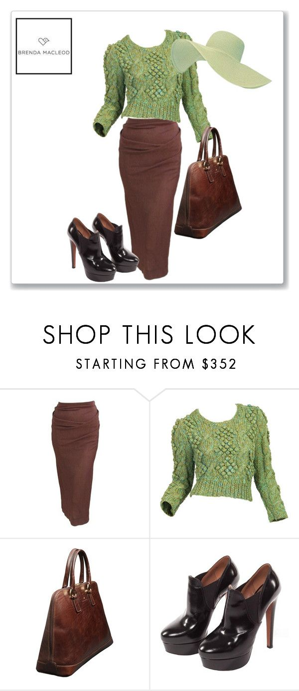 """green & brown"" by brendamacleod ❤ liked on Polyvore featuring Vivienne Westwood"
