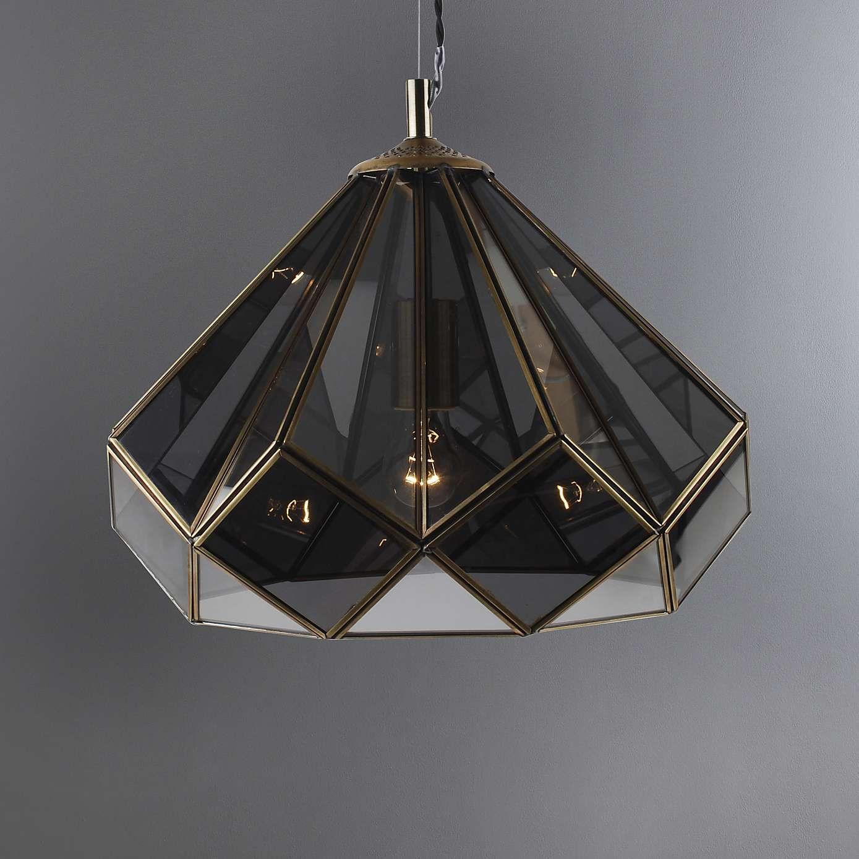 Terrarium Smoked Glass Ceiling Fitting | Dunelm | Smoked ...