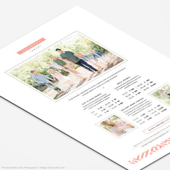 Price List Templates Photographer Price List Template Prints & Wall Art Pricing .