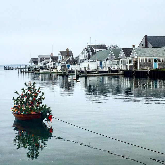 Freezing Time On Easy Street Today ⚓️❤️ I love that we live in a place where a boat Christmas tree exists  #Nantucket #howiholiday #livethelittlethings #thatsdarling