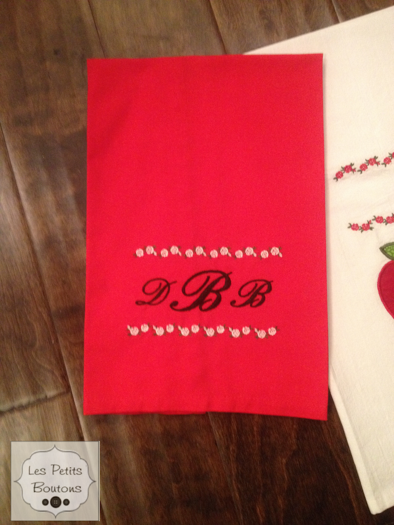 Embroidered kitchen towels - Les Petits Boutons, LesPetitsBoutons.com