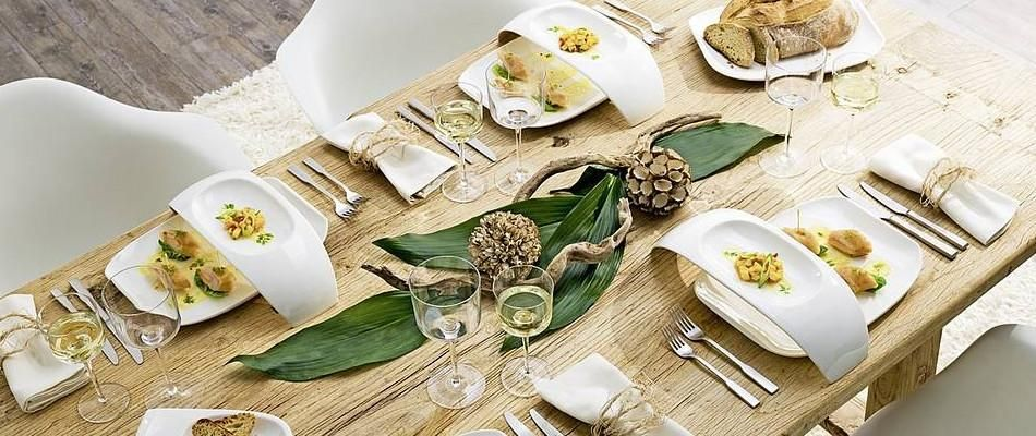 table moderne pur e et chic avec de la vaisselle design. Black Bedroom Furniture Sets. Home Design Ideas