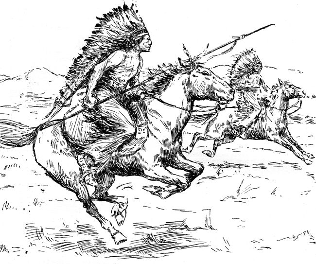 coloring pages american indians - photo#36