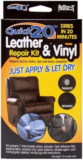 Restor It Quick 20 Leather And Vinyl Repair Kit Vinyl Repair Leather Couch Repair Diy Leather Repair