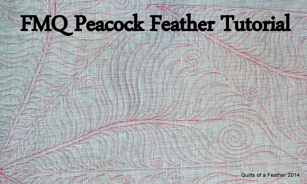Quilts of a Feather: Quilting Tutorial: How to make peacock feathers